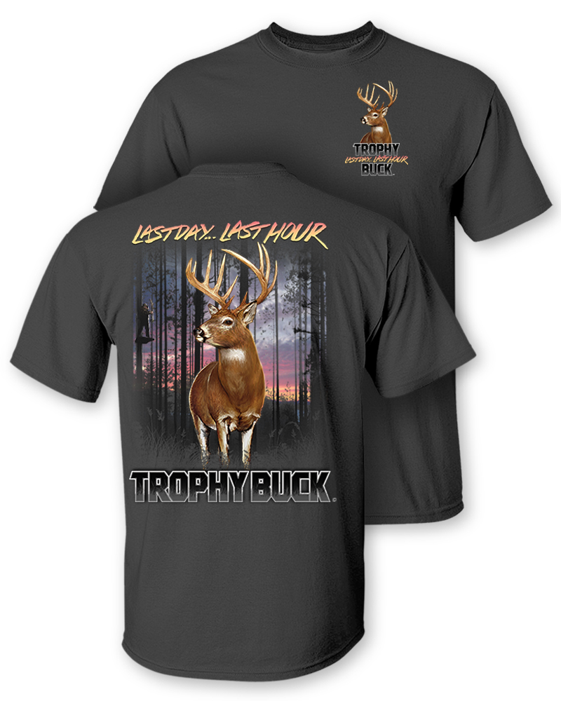 Follow the action whitetail deer trophy buck two for Two bucks t shirts
