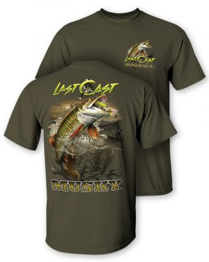 "Musky ""Last Cast"" Two-Sided Short Sleeve T-Shirt"