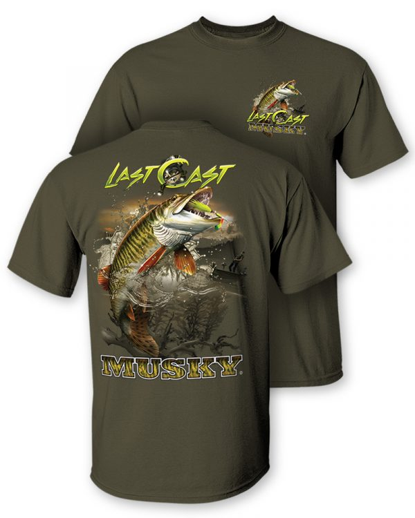 """Musky """"Last Cast"""" Two-Sided Short Sleeve T-Shirt"""