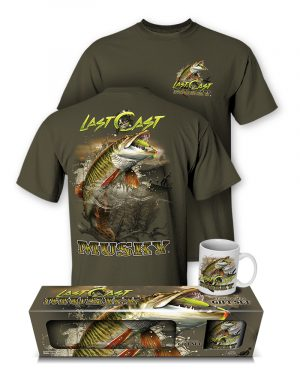 "Musky ""Last Cast"" T-Shirt and Mug Premium Gift Set"