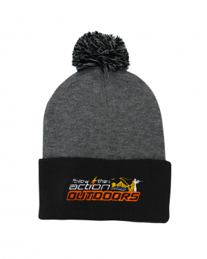 FTA beanie-ball-grey-black